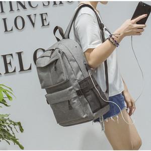 Harga new tas ransel usb port charger smart backpack anti air anti maling     | HARGALOKA.COM