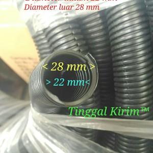 Harga selang fleksibel belah 22mm untuk membungkus merapihkan macam2 | HARGALOKA.COM