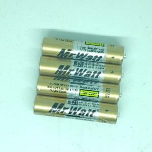 Harga baterai aaa battery mr watt 1 pack 4 pcs japan tech super heavy | HARGALOKA.COM
