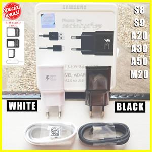 Harga original fast charging samsung s8 a20 a30 a50 m20 charger cas hp a5 a7     HARGALOKA.COM