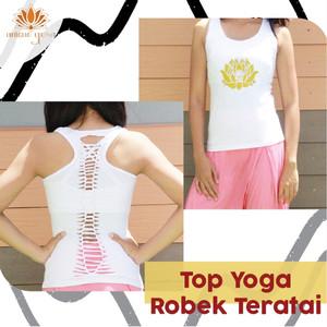 Harga ready stock top robek lotus baju yoga murah jakarta baju fitness   merah | HARGALOKA.COM
