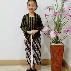 Harga kebaya lurik anak set baju adat jawa | HARGALOKA.COM