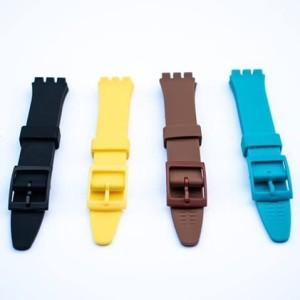 Harga tali jam tangan swatch original oem ukuran 17mm strap rubber   HARGALOKA.COM