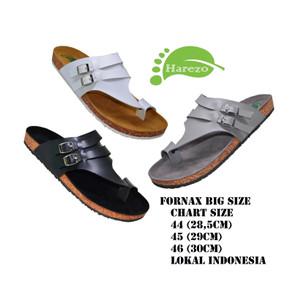 Harga sendal sandal kulit big size pria   sandal jepit jumbo ukuran 44 45 46   abu abu | HARGALOKA.COM
