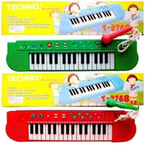 Harga techno karaoke keyboard t2768 piano lagu anak indonesia t 2768   | HARGALOKA.COM
