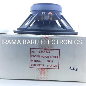 Harga speaker 12 34 audax tipe ax 12330 m8 full range 8 ohms 250 | HARGALOKA.COM