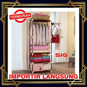 Harga rak gantungan baju persegi panjang serbaguna stand hanger square   | HARGALOKA.COM