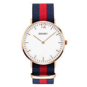 Harga jam tangan pria skmei dw flagge biru merah biru 1181 original wr 3 atm   | HARGALOKA.COM