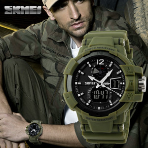 Harga jual jam tangan digital pria oeklay skmei goblin 1040 hijau original   hijau   HARGALOKA.COM