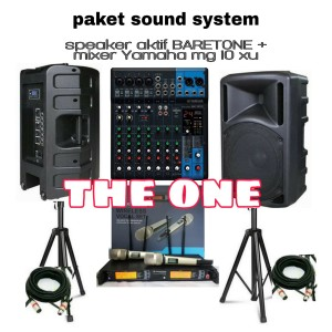 Harga paket sound system mixer yamaha amp speaker aktif baretone 15in   HARGALOKA.COM