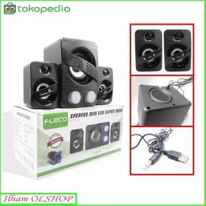Harga speaker fleco f 2179 speaker mini komputer super | HARGALOKA.COM