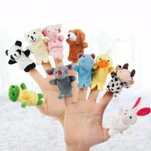 Harga boneka jari hewan isi 10 finger puppet animal bonjar   HARGALOKA.COM