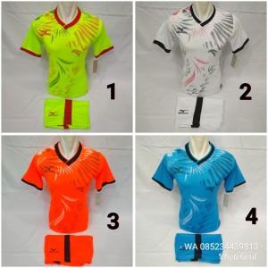 Harga baju olahraga kaos setelan futsal dan bola volly mizuno   | HARGALOKA.COM