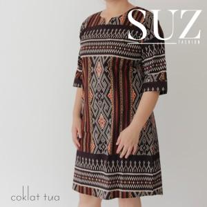 Harga suz atasan wanita tunik motif batik songket 71012   | HARGALOKA.COM
