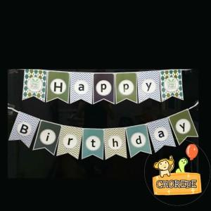 Harga banner happy birthday banner ulang tahun zigzag | HARGALOKA.COM