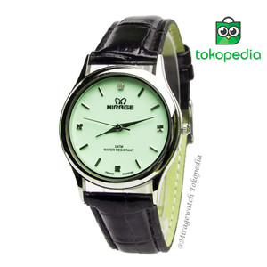 Harga jam tangan mirage kulit wanita glow in the dark ll series   hijau   HARGALOKA.COM