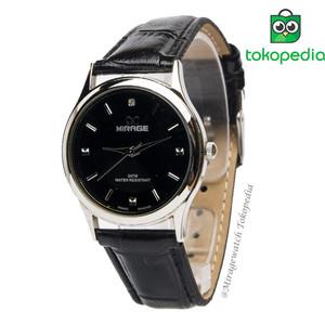 Harga jam tangan wanita mirage kulit terbaru ll series   black   hitam   HARGALOKA.COM