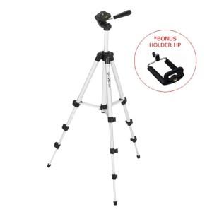 Harga stand tripod kamera vlog bonus holder hp 3 section weifeng   HARGALOKA.COM