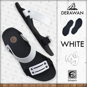 Harga new   camou   derawan white   sandal selip on pria anti slip   putih | HARGALOKA.COM