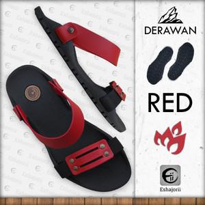 Harga new   camou   derawan red   sandal selip on pria anti slip   merah | HARGALOKA.COM