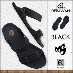 Harga new   camou   derawan black   sandal selip on pria anti slip   hitam | HARGALOKA.COM