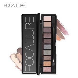 Harga focallure 10 colors earth tone eyeshadow palette with brush fa 08   | HARGALOKA.COM