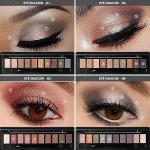 Harga focallure 10 colors earth tone eyeshadow palette with brush fa08   | HARGALOKA.COM