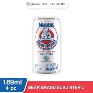 Harga nestle bear brand susu sapi sapi steril siap minum kaleng 189ml 4 | HARGALOKA.COM