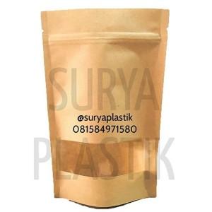 Harga standing pouch kraft 16x24 kemasan snack makanan kering bubuk | HARGALOKA.COM