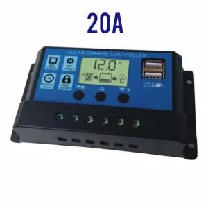 Harga solar panel charger controller panel surya 20a 12v   HARGALOKA.COM