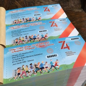 Harga cetak voucher amp tiket ekonomis ap120 13x6cm 1 sisi 2 rim | HARGALOKA.COM
