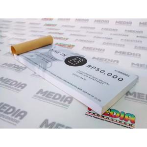 Harga cetak voucher amp tiket hvs100 art paper 120 1 sisi 1 rim | HARGALOKA.COM