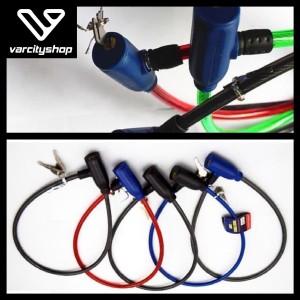 Harga kunci gembok ban sepeda bicycle lock motor murah bonus kunci | HARGALOKA.COM