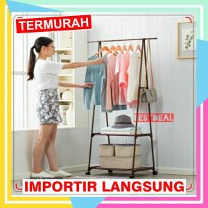 Harga gantungan baju segitiga triangle   triangular stand hanger 4 roda   | HARGALOKA.COM