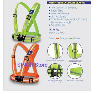 Harga rompi safety v karet elastis reflective strap safety sepeda dan lari   | HARGALOKA.COM