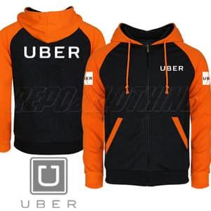 Harga jaket uber hitam orange terbaru terlaris terkeren   | HARGALOKA.COM
