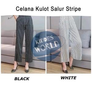 Harga celana kulot salur stripe adem good quality termurah | HARGALOKA.COM