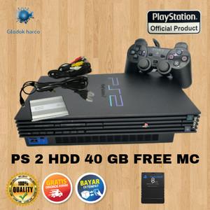 Harga ps 2 console playstation harddisk 40 gb fullgames free mc save   HARGALOKA.COM