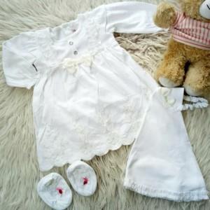 Harga annisa gamis gamis putih bayi murah baju muslim bayi | HARGALOKA.COM