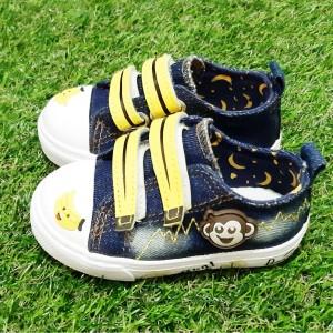 Harga sepatu anak import sneakers gambar monkey kids bahan | HARGALOKA.COM