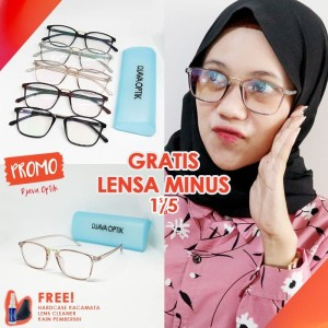 Harga frame kacamata wanita pria trendy murah lensa baca minus guess | HARGALOKA.COM