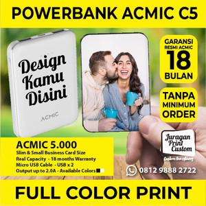 Harga mini powerbank acmic custom print 5 000mah design bebas power | HARGALOKA.COM