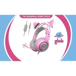 Harga somic g951s cat headphone gaming kucing wired headset mic hp ps4 | HARGALOKA.COM