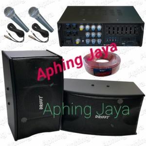 Harga paket karaoke sound system speaker 8inch amplifier 2pcs mic   HARGALOKA.COM