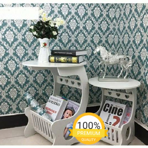 Harga wallpaper stiker dinding motif batik hijau | HARGALOKA.COM