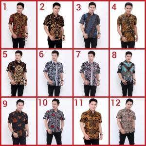 Harga batik pria kemeja batik baju murah pekalongan solo jogja | HARGALOKA.COM