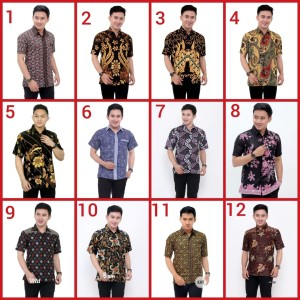 Harga baju kemeja batik pria murah grosir pekalogan solo jogja | HARGALOKA.COM