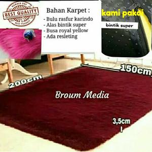 Harga karpet rasfur bulu halus 200 x 150 x tebal 3 5 cm     HARGALOKA.COM