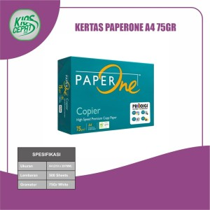 Harga kertas paperone a4 75gr kertas hvs | HARGALOKA.COM
