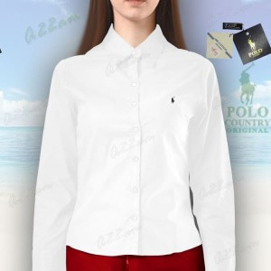Harga c42 14 kemeja putih polo country lengan panjang original polos | HARGALOKA.COM